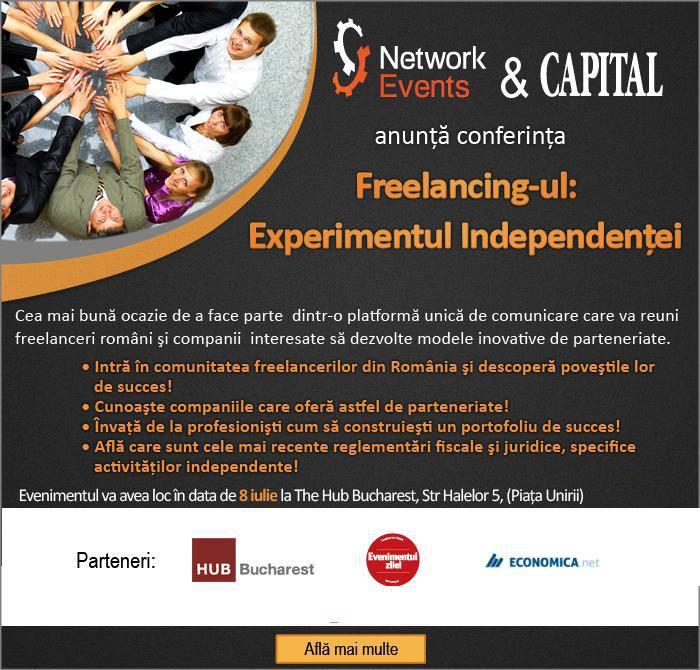 poster conferinţa pentru freelanceri